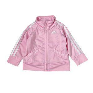 Adidas Girls Light Print Zip Up Track Jacket